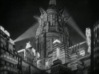 Metropolis skyline at night