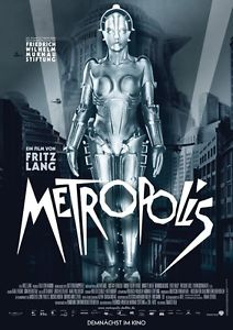 Metropolis movie poster featuring the robot Parody