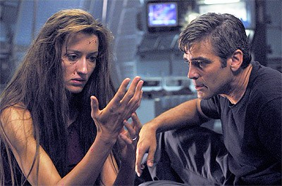 Bodnarchuk and Clooney in Solaris