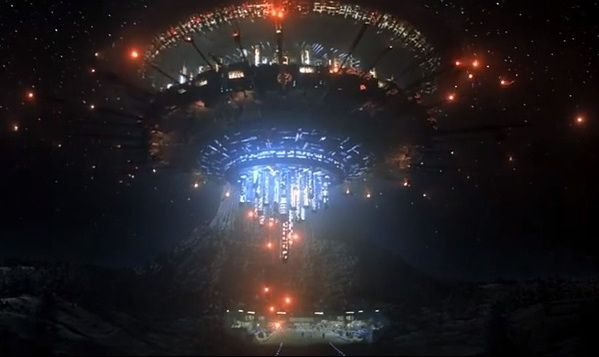 The Mothership descends in Close encounters of the Third Kind