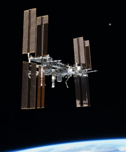 ISS, Earth and Moon