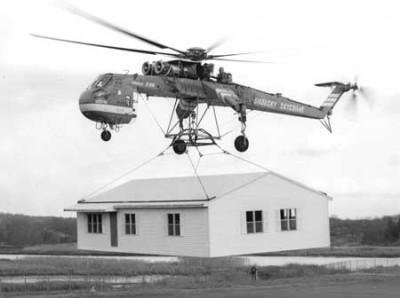 Sikorsky Sky-crane helicopter