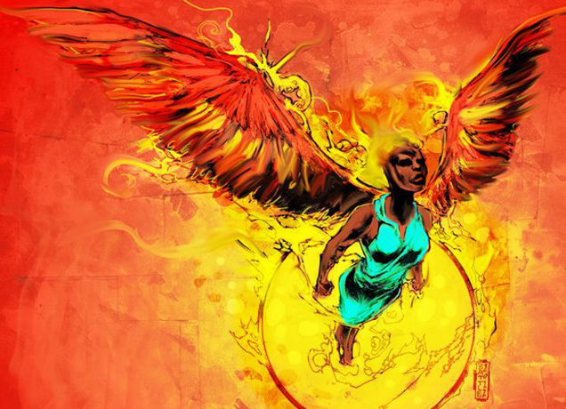 winged African lady