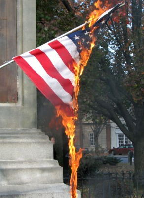 US Flag burning