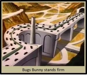 Bugs vs the highway system