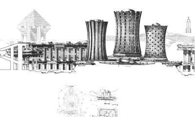 Paolo Soleri's NOVANOAH city design