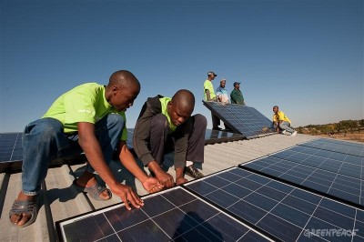 Solar Installation in South African Village
