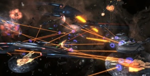 Star Trek battles in space