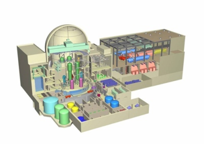 Thorium-based MSR plant cutaway
