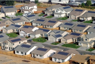 homes outfitted with solar cells