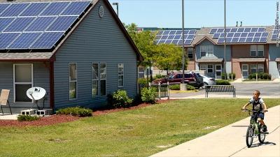 housing solar panels