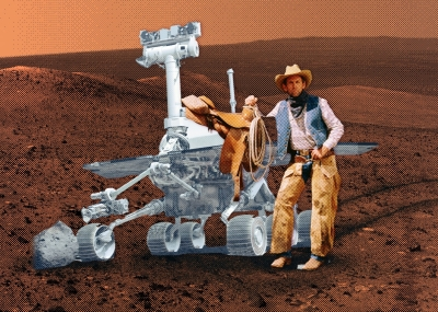 space cowboy on Mars