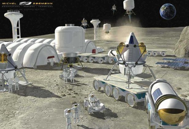 proposed habitat on the Moon