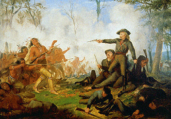 Custer attacking the frontier