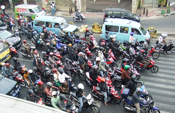 Indonesia traffic Motorcycle Mojo