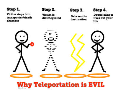 why teleportation is evil