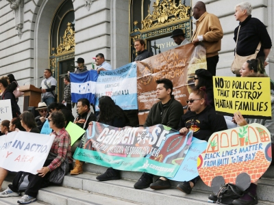 Advocates and immigrants rallied