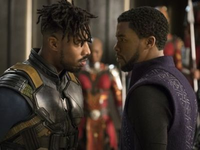 Black Panther and Erik Killmonger