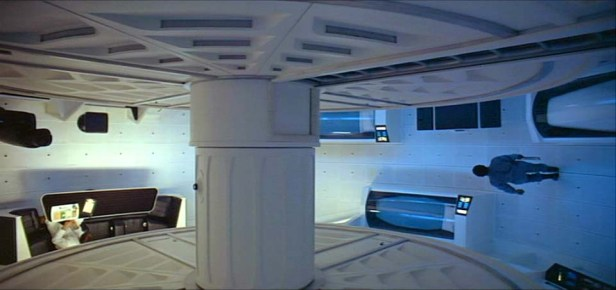 Rotating interior of the Discovery