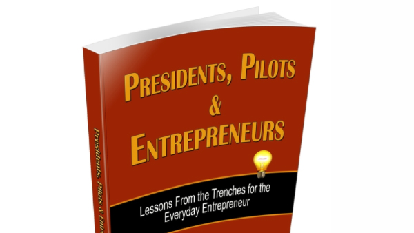 cover for Presidents, Pilots and Entrepreneurs, created by Rita Toews