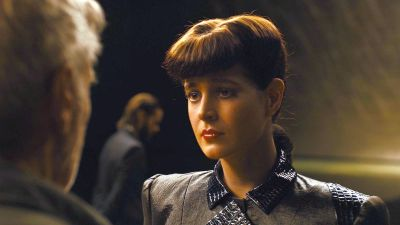 Rachel (a CGI version of Sean Young) confronts Deckard in Blade Runner 2.