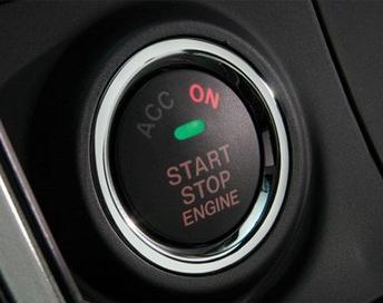 A vehicle's keyless start-stop button.