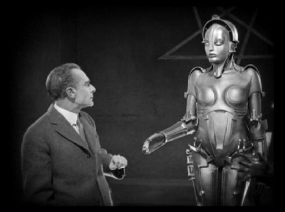 The robot, Parody, extends a hand to the repulsed Joh Frederson