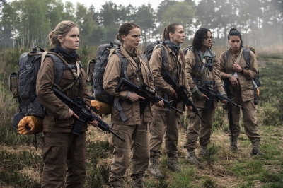 Gina Rodriguez, Jennifer Jason Leigh, Natalie Portman, Tessa Thompson and Tuva Novotny in Annihilation