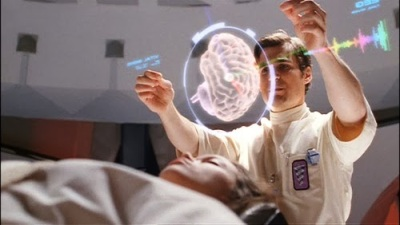 Dr. Simon Tam examines his sister, River. From Firefly.