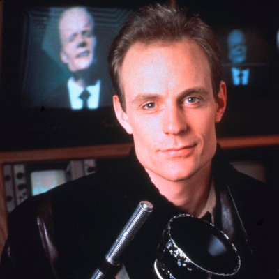 "Studio Publicity Still from ""Max Headroom"" Matt Frewer 1987"
