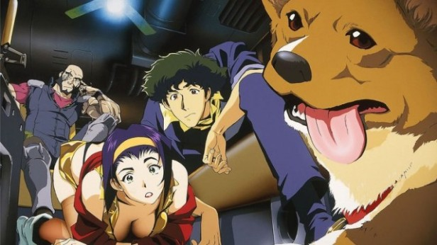Jet, Faye, Spike and Einstein, from Cowboy BeBop.