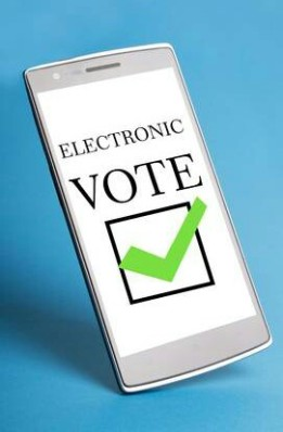 a cellphone used to vote