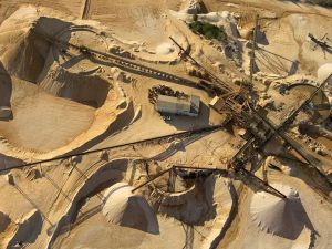 Mineral mining operation