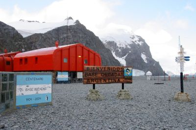Orcadas Station on Antarctica