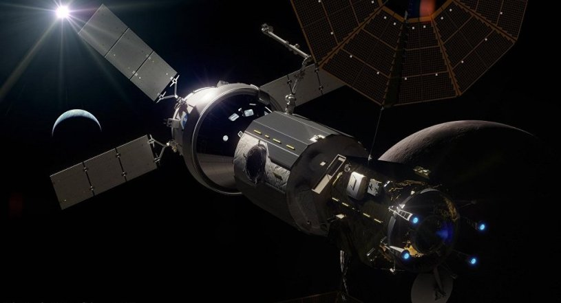 NASA's Gateway orbiting the Moon