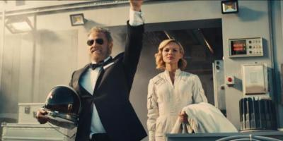 The Most Interesting Man in the World boarding a rocket ship to Mars