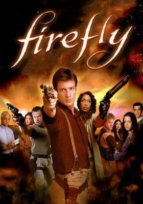 Promo image showing the cast of Firefly