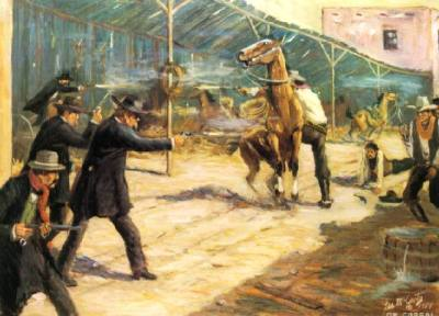 The Earps against the Clanton Gang at the OK Corral