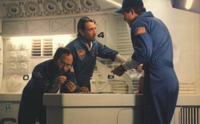 Bob Balaban, Roy Scheider and John Lithgow as Chandra, Floyd and Curnow