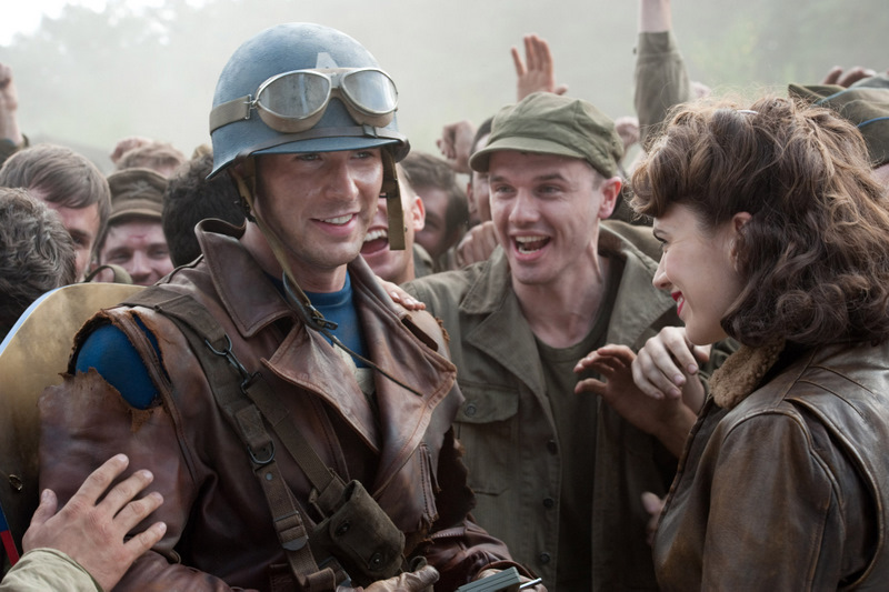 Captain America is cheered by the POWs he's freed.