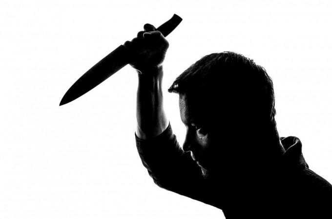 man holding a knife