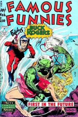 Buck Rogers on the cover of Famous Funnies