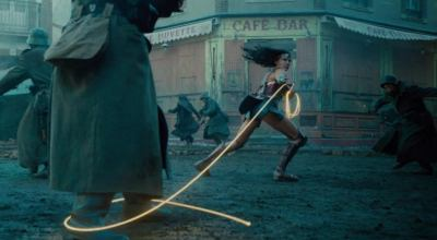 Diana uses her lasso as a whip